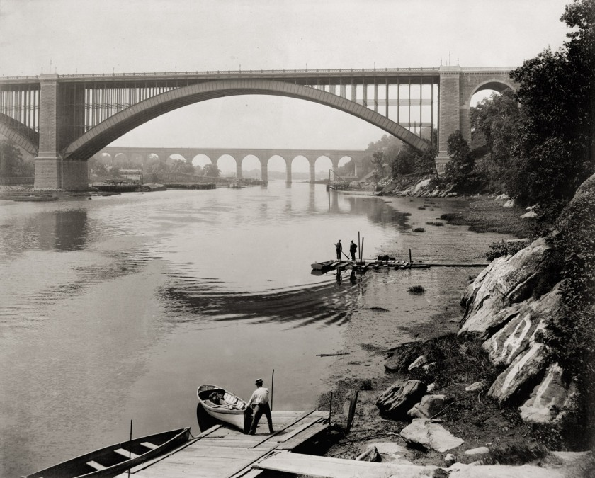 William Henry Jackson - High Bridge and Washington Bridge, 1890